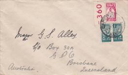South Africa 1945 Cover Sent To Queensland - Afrique Du Sud (...-1961)