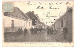 Saint-Aubert (Saint-Hilaire-lez-Cambrai-Avesnes-les-Aubert-Haussy-Nord)-1905-Rue De La Chaussée-Très Animée - Cambrai