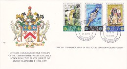 St.Kittis Nevis 1977 Silver Jubilee FDC - Stamps