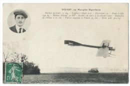 René VIDART (1890-1928) Grand Aviateur Originaire De Divonne-les-Bains Sur Monoplan Deperdussin - Aviateurs