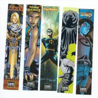LOT DE 5 MARQUE PAGES  SEMIC Comics (TELLOS,  TOMB RAIDER,FANTASK,SCION Et BATMAN - Bookmarks