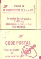 """CARNET 2319-C 4 Liberté De Delacroix """"CODE POSTAL"""" Fermé Bas Prix Parfait état RARE - Usage Courant"""