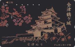 Rare Télécarte Japon LAQUE & OR - Religion Pagode Temple - LAQUER & GOLD - CASTLE Japan Phonecard - SCHLOSS LACK TK 236 - Japan