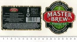 UK Beer Label - Shepherd Neame Brewery - Kent - Master Brew Kentish Ale - Beer