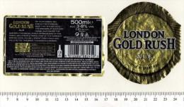 UK Beer Label - Shepherd Neame Brewery - Kent - London Gold Rush - Beer