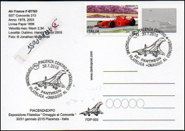 Plan Supersonic Concorde 213 AIR FRANCE  F-BTSD Pepsi Livrey Aircraft Aviation Avion Aiplane Postmark Philatelic - 1946-....: Ere Moderne