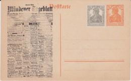DR Germania Ganzsache P 110 Priv Zudruck Hann Münden Ca 1918 - Allemagne