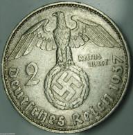 2 Reichsmark Paul Von Hindenburg 1937J - [ 4] 1933-1945 : Troisième Reich