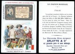 FIGURINA FRANCESE CON RIPRODUZIONE DELLA BANCONOTA DA £5 - Monete (rappresentazioni)