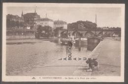 57 - SARREGUEMINES--La Sarre Et Le Pont Des Alliés--cpsm Pf - Sarreguemines