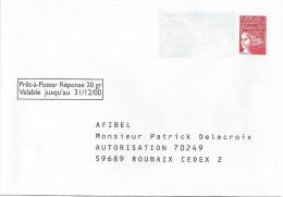 PAP - PRET A POSTER REPONSE Validité 31/12/00 - AFIBEL - Sans Numéro - Entiers Postaux
