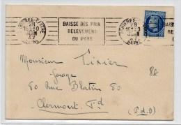 1947 - ENVELOPPE De ASNEIRES Avec SEUL MAZELIN N° 678 - Marcophilie (Lettres)