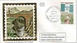 ANDORRE. Pont Des Escalls Sur La Rivière Valira.  Un FDC 1978 - Ponti