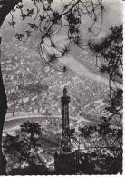 Francia-Lyon--La Tour De Television De Fourviere Et La Ville--1966--Cachet-Oullins-Rhone - Lyon