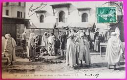 Cpa N° 116 Alger Petit Marché Arabe Place Randon 1907 Carte Postale Algérie - Alger
