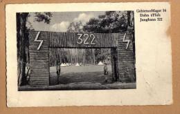 Original Postkarte Dahn Südwestpfalz HJ Zeltlager 1936 Schöne Ansicht - Dahn