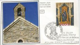 ANDORRE.  Chapelle Saint Roma., Année 1164.  FDC 1977 - Cristianesimo