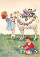 CP - SPAHN - Barré Et Dayez - Barday - Illustrateur - Mouton - Enfants - Fleurs - 1416C - Illustrateurs & Photographes