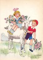 CP - SPAHN - Barré Et Dayez - Barday - Illustrateur - Chèvre - Enfants - Fleurs - 1416D - Illustrateurs & Photographes