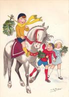 CP - SPAHN - Barré Et Dayez - Barday - Illustrateur - Cheval - Enfants - Fleurs - 1416E - Illustrateurs & Photographes