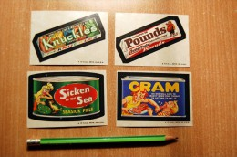 Vintage 1973-1976  4 Wacky Cards From Series 5 Stickers Decals - Non Classificati