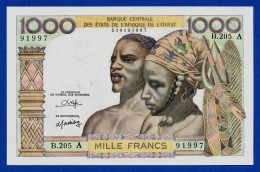 West African States - 1000 Francs 1980 Ivory Coast / Côte D'Ivoire P103An - AU - Stati Dell'Africa Occidentale