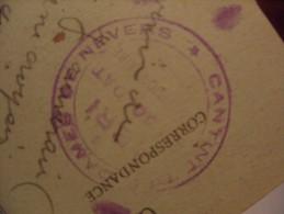 F.M Cachet Nevers Abri Soldat Cantine Dames De Nevers 1918 - Poststempel (Briefe)
