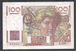 """100 Francs """" Jeune Paysan """" Du  3 - 12 - 1953 - 100 F 1945-1954 ''Jeune Paysan''"""