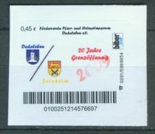 Biber Post 20 Jahre Grenzöffnung, Pfarrverein Dedeleben (Wappen) Glatt, Langer UPOC 0,45 € Bp058 - BRD