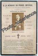 Faire Part Décès XIX Photo Célébrité Prince Impérial Napoléon Celebrity Royalty Military War 1879 - Obituary Notices