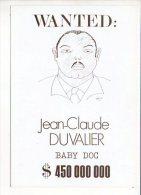 """Polique,évènement - Carte Pétition En Franchise Postale Pour L'Elysée """"Wanted : Jean Claude Duvalier """" Dessin De Pélou - Evènements"""