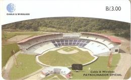 TARJETA DE PANAMA DE CABLE & WIRELESS DE B/3.00 ESTADIO NACIONAL DE BEISBOL - Panamá