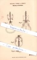 Original Patent -  Michael Weber In Zürich , 1882 ,  Korkenzieher !!! - Tire-Bouchons/Décapsuleurs