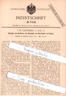 Original Patent - F. W. Gantenberg In Aue I. S. , 1894 , Nachbügeln Von Manschetten Und Kragen !!! - Historische Dokumente