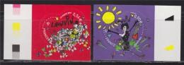Coeurs De La Saint Valentin 2010 Type Autocollant 0.56€ Et 0.90€ Autoadhésif N°386 Et 387 Maison De Couture Lanvin - Adhesive Stamps