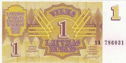 Latvia/ Lettonia 1 Rublis 1992  Non Circolato - Lettonia