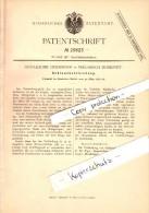 Original Patent - Guilleaume Crickboom In Preussisch Moresnet , 1884 , Schlauchverbindung , Bleyberg , Plombieres !!! - Historical Documents