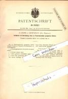 Original Patent - H. Böhm In Kowahlen / Kowale Oleckie I. Ostpreussen , 1884 , Feuerfester Stein , Ziegelei , Olecko !!! - Ostpreussen