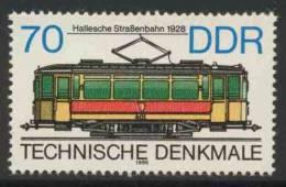 DDR Germany 1986 Mi 3018 YT 2640 ** Tram (1928), Halle / Straßenbahn - Historische Straßenbahnen - Tram