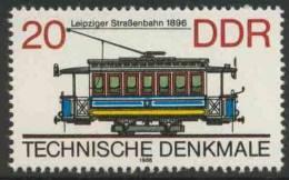 DDR Germany 1986 Mi 3016 YT 2638 ** Tram (1896), Leipzig / Straßenbahn - Historische Straßenbahnen - Tram