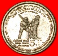 ★CRICKET★SRI LANKA★ 5 RUPEES 1999! UNCOMMON! LOW START★ NO RESERVE! - Sri Lanka