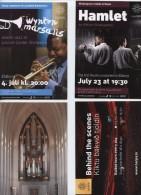 Islande, Iceland 4 Cartes Postales,Hamlet, Jazz,,orgue, Théâtre, Harpa,Toroto  Symphony Orchestra - Iceland