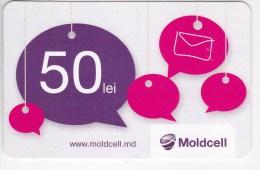 Moldova   Moldavie  Moldau ,  Prepaid Phonecard -  Moldcell  ,  50 Lei , Paper , Used - Moldova