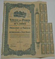 Ville De Paris, Emprunt 4% 1930 - Banque & Assurance