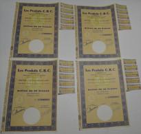 4 Titres, Les Produits CBC à Boulogne Sur Seine, Stts à Amiens, K De 2.240.000 - Industrie
