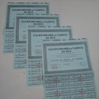 4 Titres, Casinos De Nice - Casino