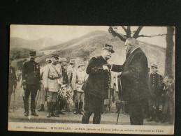 N°708 - Haute-Alsace - Bitschviller - Le Maire Présente Au Général Joffre Ses Souhaits De Bienvenue - Guerre 1914-18
