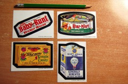 Vintage 1973-1976  4 Wacky Cards From Series 6 Stickers Decals - Non Classificati