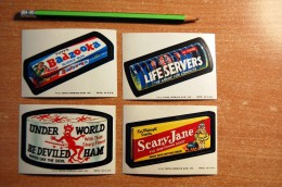 Vintage 1973-1976  4 Wacky Cards From Series 10 Stickers Decals - Non Classificati