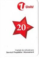 Moldova   Moldavie  Moldau ,  Prepaid Phonecard -  Unlte  ,  20 Lei , 2012 , Tipe 1 , Paper , Used - Moldova